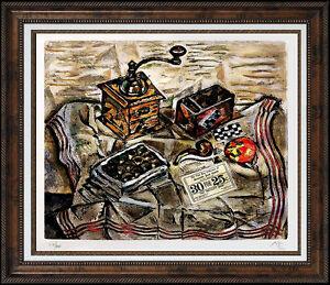 JOAN MIRO Authentic Signed Artwork Original Color Etching Still Life Moulin RARE