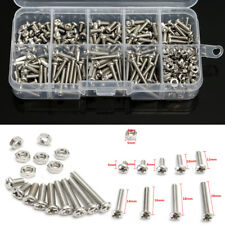 340pcs M3 DIN7985 Stainless Steel Hex Screw Nuts Bolt Cap Socket Assortment