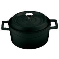 Paderno Lava Casseruola nera ghisa smaltata adatta a tutte le cotture