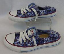 Converse All Star Women's 5.5 Chucks Shoreline Floral Purple Sneakers Shoes