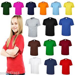 Ladies Loose Fit T-Shirt Size UK 10 to 30 Plus Classic Plain 100% Cotton Unisex