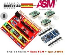 CNC Shield V4 Expansion Board + Nano V3.0 + 3pcs A4988 Stepper Motor Driver