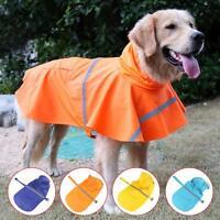 Dog Rain Coat Pet Jacket Puppy Outdoor Clothes Waterproof Coat Hooded Raincoat
