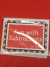Preschool Learning  Fun with Subtraction  - FUN WITH LEARNING FLASH CARDS