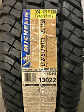 2 New LT 245 75 17 LRE 10 Ply Michelin LTX A/T2 Tires