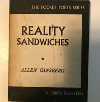 Reality Sandwiches. Allen Ginsberg. 1966. Pocket Poet Series