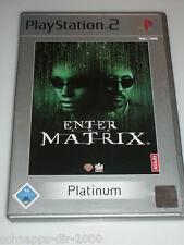 Enter the Matrix Platinum Atari con instrucciones PlayStation 2 ps2 juego de acción