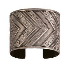 Montana Silversmiths Western Silver Classic Engraved CHEVRON Wide Cuff Bracelet