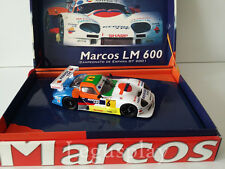 Slot car SCX Scalextric Fly A28 Marcos LM 600 Campeonato de España GT 2001