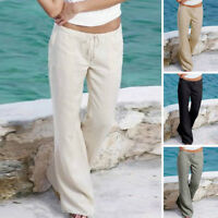 Fashion Plus Size Women Ladies Trousers Pants Summer Casual Holiday Beach Pants