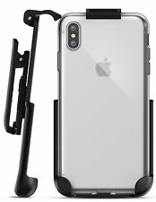 iPhone XS Max Belt Clip Clear Case with Holster Clip, Slim Transparent Cover