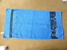 Blue Les Adventures of Tintin Towel - made under licence by Jalla - rare