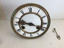 More details for antique brass striking  clock works stamped rear 43cm 104