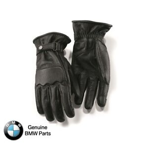 BMW Motorrad Genuine Leather Rockster Motorcycle Gloves - Black