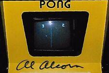 Al Alcorn signed Inventor Pong Computer Science Rare Coa Look!
