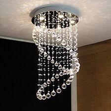 "H32"" x W20"" Modern Contemporary Circle Rain Drop Clear LED K9 Crystal Chandelier"