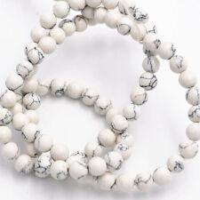 """New elegant 6mm white turquoise beads gemstone loose beads 15 """""""