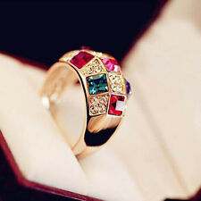 Fashion Colourful Jewelry Dazzling Ring Rings Finger Ring Crystal Rhinestone