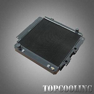 BLACK For Jeep Wrangler YJ TJ LJ 4.0L 86-06 52MM Aluminum Radiator LEFT HAND AT