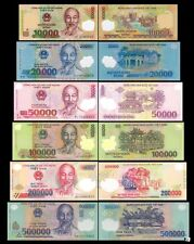 Set of 6 PCS,Vietnam 10000-500000 Dong ,Polymers, UNC