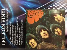 The Beatles Rubber Soul LP Vinyl PMC1267 XEX580-5/XEX579-6 Pop 1965 Parlophone