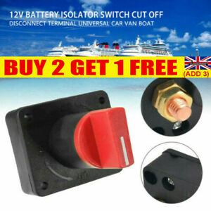 100A Battery Isolator Master Switch On/Off Marine Auto 12V For Car Boat Van UK