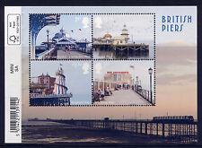 GB 2014 SEASIDE ARCHITECTURE BRITISH PIERS MINIATURE SHEET MNH