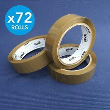 72 x Rolls Premium Parcel Packing Tape Sellotape / 25mm x 66m / Brown Buff