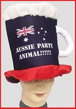 AUSSIE PARTY ANIMAL Beer Mug HAT Australia Commonwealth Olympic Costume Party