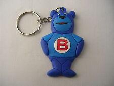 Porte clef BUTAGAZ, ourson, mascotte, ours bleu, plastique souple