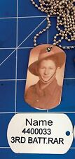 Personalised Dog tags to ware with you medals