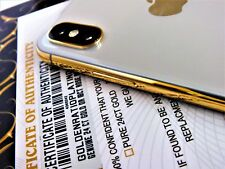 PROFESSIONAL APPLE IPHONE X 24CT GOLD PLATING SERVICE 10 MICRONS THICK 24K