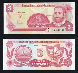 Nicaragua 5 centavos 1991 FDS/UNC  B-06