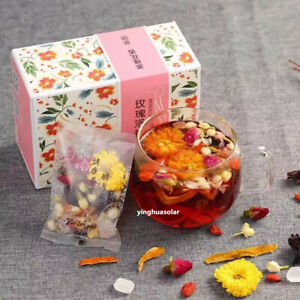 Rose Jasmine Roselle Chrysanthemum Wolfberry Flower Tea 花茶玫瑰茉莉玫瑰茄菊花陈皮枸杞 200g