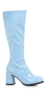 Baby Light Blue GoGo Dancer 60s 70s Hippie Disco Costume Knee High Boots Womans