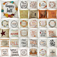 Happy Thanksgiving Pillow Case Home Car Sofa Decor Square Cushion Cover UK