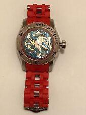 Men's Invicta Sea Spider Model 10346 Mechanical Blue Skeleton Dial Watch 55
