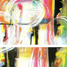 "36""x24"" PRANAFICATION by JODI FUCHS ABSTRACT MULTI COLORED SWIRLS LINES CANVAS"