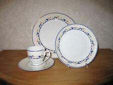 GUY DEGRENNE *NEW* Cerezo Bleu Set 2 Assiettes + Tasse à café