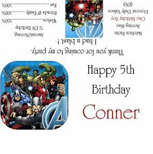 Avengers Assemble Candy Bar Wrappers/Birthday Party Favors