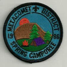 BSA METACOMET District 1986 Spring Camporee Patch V4
