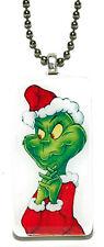 "HANDMADE 18"" FUN CHRISTMAS GRINCH DOMINO NECKLACE (DO005)"