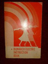 Monarch Electric Range Instruction Book and Recipe Book circa 1944