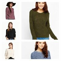 Ladies New Ex H&M Cable Knitted Full Sleeves Tops Womens Jumper Attractive Sweat