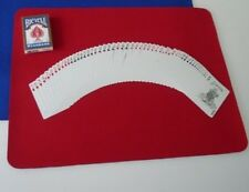 """CLOSE UP MAT PAD RED 11"""" x 16"""" Magic Trick Table Accessory for Cards Coins etc"""
