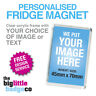 FRIDGE MAGNET * PERSONALISED * CUSTOM * ACRYLIC 70mm x 45mm * Photo * Logo *