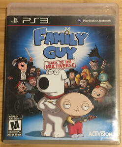 Family Guy: Back to the Multiverse (PlayStation 3, 2012) - TESTED! - No Manual