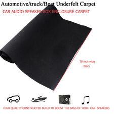 Automotive Speaker Box Carpet Trunk Liner DJ Carpet Rug Cabinet Black 45