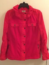 APRIORI Wool Jacket Women's Size 14 Red Lightweight PRISTINE CONDITION