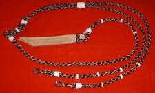 NEW SHOWMAN Leather Romal Reins Western Piding Horse Tack  Bridle Bosal Rawhide